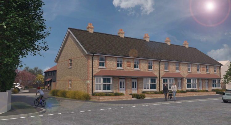 CGI of the new GCHA homes in Meopham